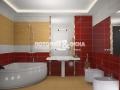 Натяжной сатиновый потолок в ванной