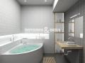 Спокойный и уютный дизайн ванной