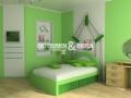 Лаковый потолок в спальне