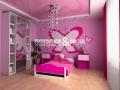 Двухуровневый потолок в комнате девочки