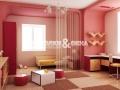 Цветные сатиновые потолки фигурного типа