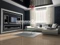 Стильный черный потолок в гостиной